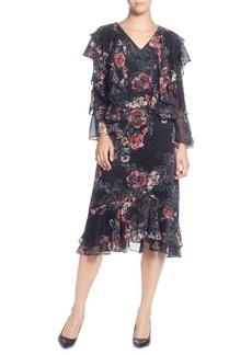 Catherine Catherine Malandrino Ruffled Floral-Print Dress