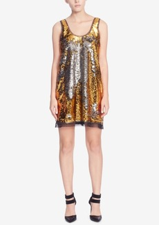Catherine Catherine Malandrino Sequined Tulle-Trim Tank Dress