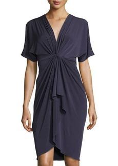 Catherine Catherine Malandrino Short-Sleeve Cold Shoulder Dress W/Twist