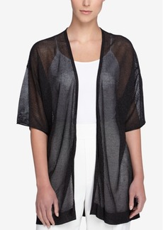 Catherine Catherine Malandrino Short-Sleeve Sheer Cardigan