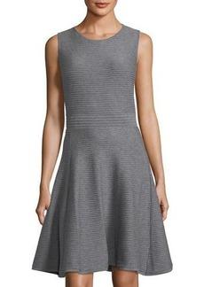 Catherine Catherine Malandrino Sleeveless Textured Knit Fit-&-Flare Dress