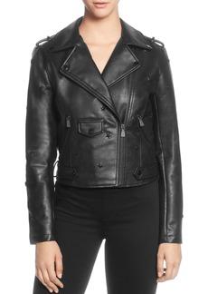 CATHERINE Catherine Malandrino Star-Studded Moto Jacket
