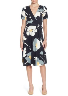 Catherine Catherine Malandrino Taral Floral Faux Wrap Dress