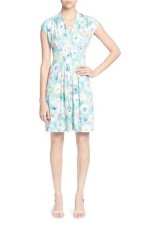 CATHERINE Catherine Malandrino Tinka Pleated Watercolor Floral Dress