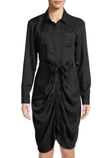 Catherine Catherine Malandrino Twisted Long-Sleeve Shirtdress