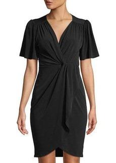 Catherine Catherine Malandrino V-Neck Twisted-Front Dress
