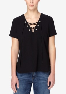 Catherine Catherine Malandrino Vicki Lace-Up Top