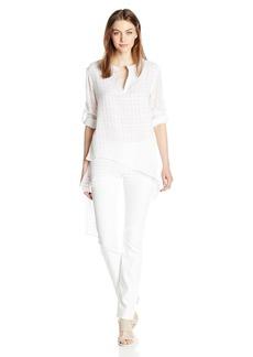 CATHERINE CATHERINE MALANDRINO Women's Livy Blouse-Cotton  L