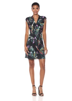Catherine Catherine Malandrino Women's Tinka Dress-Brushstroke  XL