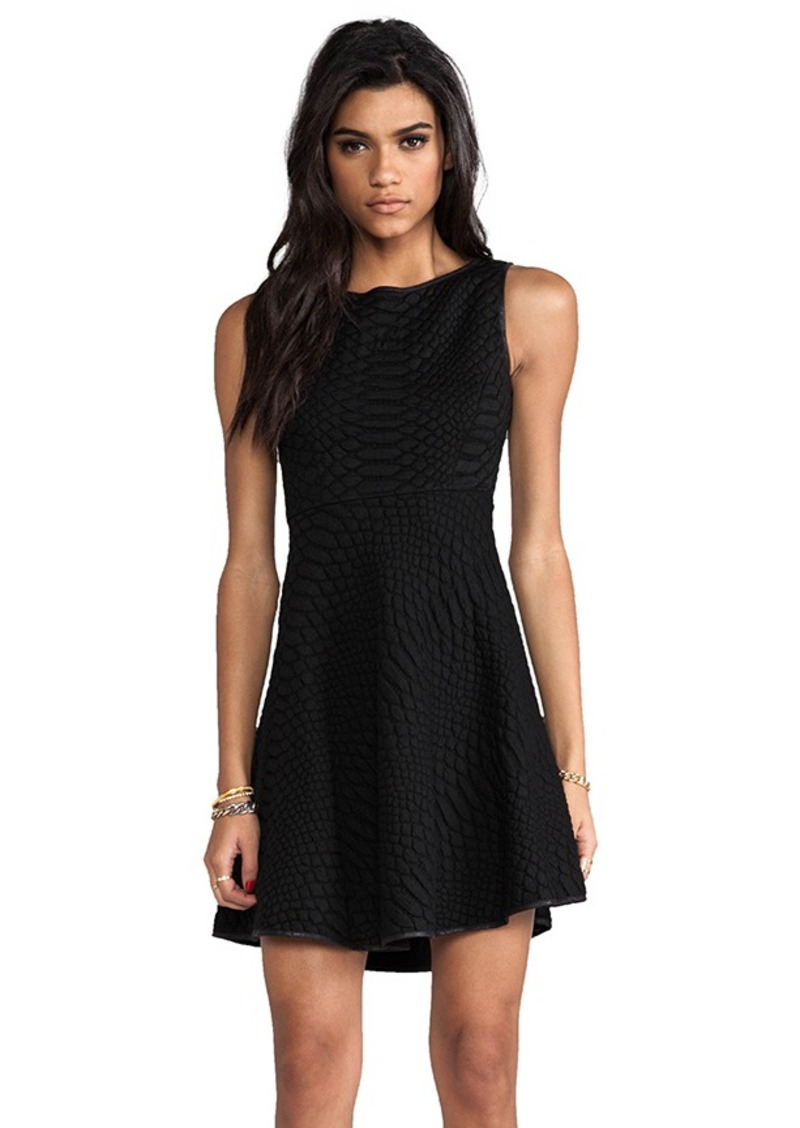 Catherine Malandrino Aimee Quilted Dress in Black