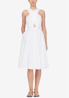 Catherine Malandrino Annabeth Crisscross Halter Dress