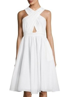 Catherine Malandrino Annabeth Crisscross Silk-Blend Dress