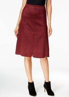 Catherine Malandrino Avis Faux-Suede A-Line Skirt