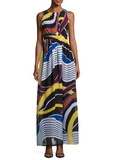 Catherine Malandrino Back-Cutout Sleeveless Maxi Dress