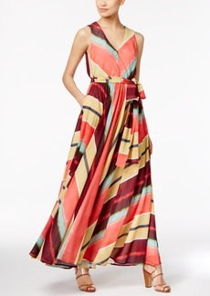 Catherine Malandrino Bianca Striped Maxi Dress
