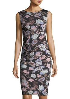 Catherine Malandrino Caron Floral-Print Front-Twist Dress