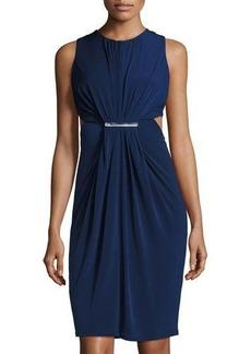 Catherine Malandrino Cutout Crewneck Ruched Dress
