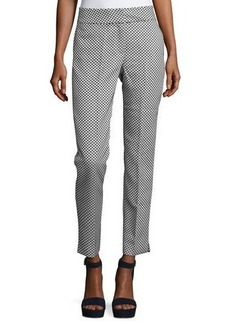 Catherine Malandrino Dot-Print Slim Ankle Pants