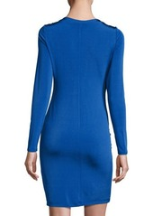 Catherine Malandrino Draped-Front Long-Sleeve Dress