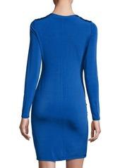 Catherine Malandrino Draped-Front Long-Sleeve Dress