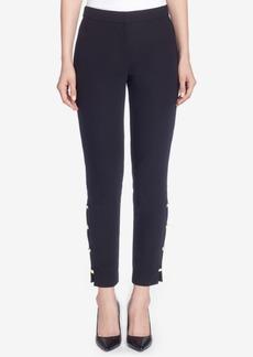Catherine Malandrino Embellished Slim-Leg Pants