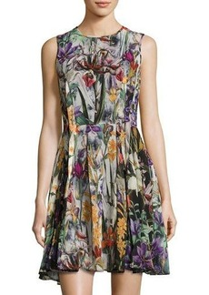 Catherine Malandrino Floral-Print Sleeveless Fit & Flare Dress
