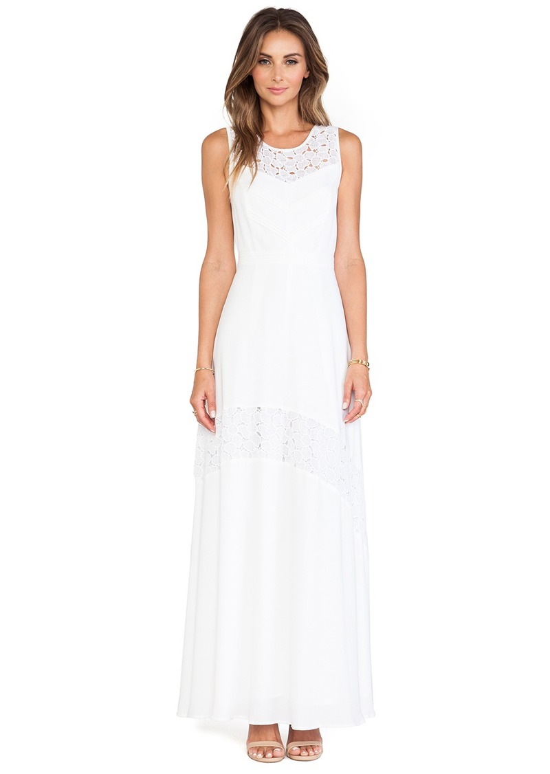 Catherine Malandrino Gianna Lace Detail Maxi Dress