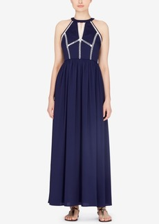 Catherine Malandrino Gish Empire-Waist Maxi Dress