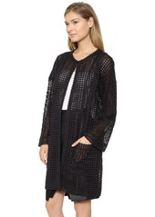 Catherine Malandrino Glenda Long Lace Coat