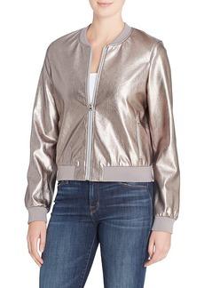 Catherine Malandrino Gummetal Metallic Jacket