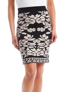 Catherine Malandrino Jacquard Knit Skirt