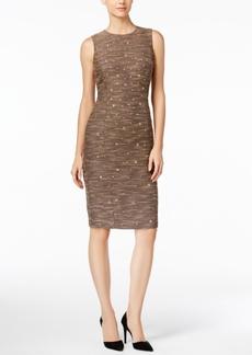 Catherine Malandrino Janine Embellished Tweed Sheath Dress