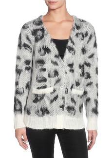 Catherine Malandrino Leopard Eyelash Sweater