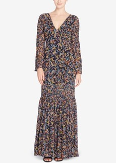 Catherine Malandrino Lynch Silk Printed Maxi Dress