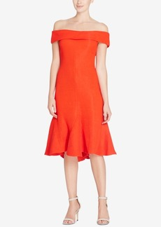 Catherine Malandrino Off-The-Shoulder Flare-Hem Dress
