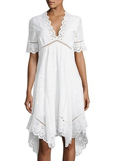 Catherine Malandrino Perry Eyelet-Trim Dress