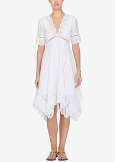 Catherine Malandrino Perry Lace-Trim Fit & Flare Dress