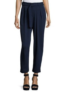 Catherine Malandrino Pleat-Front Crop Trouser