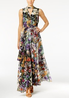 Catherine Malandrino Printed Chiffon Maxi Dress