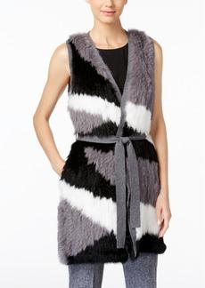 Catherine Malandrino Roland Rabbit-Fur-Front Cashmere Vest