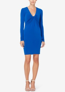 Catherine Malandrino Ruched V-Neck Sheath Dress