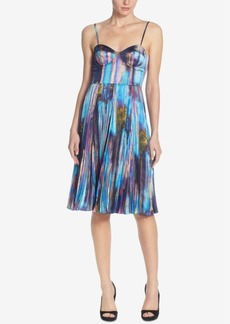 Catherine Malandrino Silk Bustier Pleated A-Line Dress