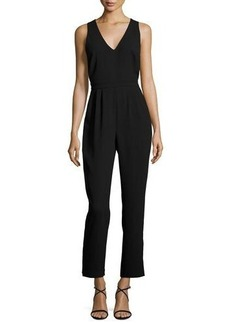 Catherine Malandrino Sleeveless Cross-Back Jumpsuit