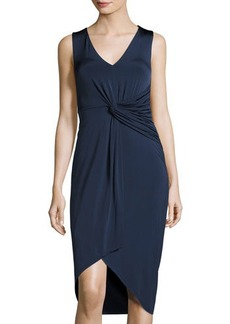 Catherine Malandrino Sleeveless Draped-Front Dress