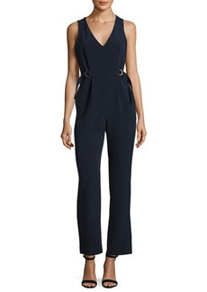 Catherine Malandrino Sleeveless Full-Leg Crepe Jumpsuit