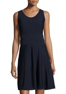Catherine Malandrino Sleeveless Pointelle A-line Dress