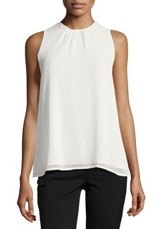 Catherine Malandrino Sleeveless Trapeze Blouse