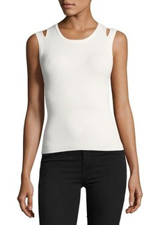 Catherine Malandrino Tara Shoulder-Cutout Knit Top
