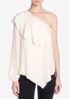 Catherine Malandrino Thelda Silk One-Shoulder Top