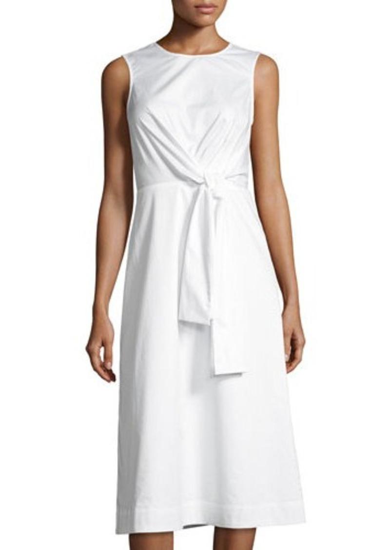 Catherine Malandrino Ursula Tie-Front Poplin Dress